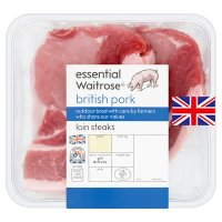 essential Waitrose 2 British pork loin steaks