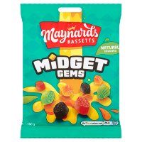 Maynards Bassetts midget gems sweets bag