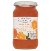 Essential Waitrose fine cut seville orange marmalade