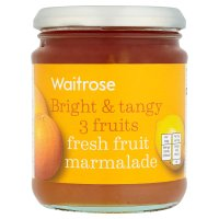 Waitrose 3 fruits fresh fruit marmalade