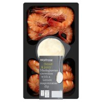 Waitrose tiger prawns with a lemon mayonnaise dip