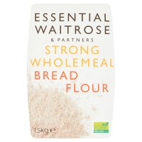 essential Waitrose strong wholemeal bread wheat flour