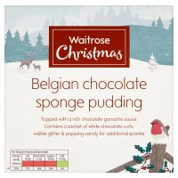 Waitrose Christmas Belgian chocolate sponge pudding
