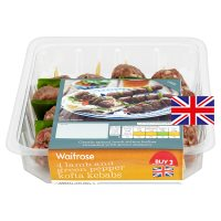 Waitrose 4 lamb & green pepper kofta kebabs