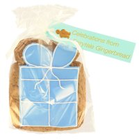 Image on Food Blue Happy Birthday Parcel
