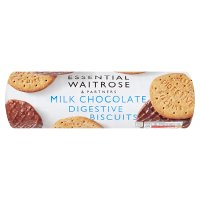 essential Waitrose milk chocolate digestive biscuits