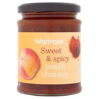 Waitrose spicy peach chutney