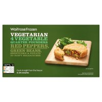 Waitrose chunky vegetable quarter pounders