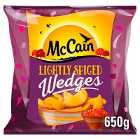 McCain potato wedges lightly spiced