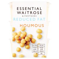 essential Waitrose reduced fat houmous snack pots