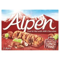 Alpen bars 5 fruit and nut with milk chocolate