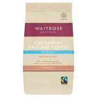Waitrose Colombian Decaffeinated Roast & Ground Cafetiere Coffee