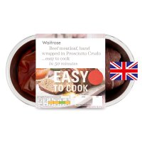 Waitrose Easy To Cook British beef meatloaf in prosciutto crudo