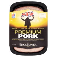 The Black Farmer premium pork sausages