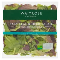 Waitrose babyleaf herb salad