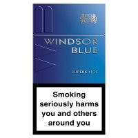 Windsor Blue superking cigarettes