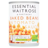 essential Waitrose baked beans in tomato sauce