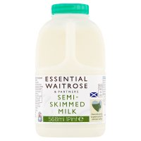 Waitrose semi skimmed Scottish milk