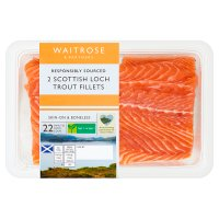 Waitrose 2 boneless Scottish loch trout fillets