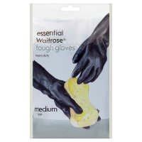 essential Waitrose tough gloves medium