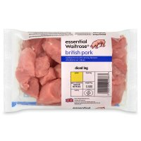 essential Waitrose British Outdoor Bred pork diced leg