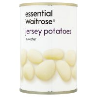 essential Waitrose canned Jersey potatoes in water