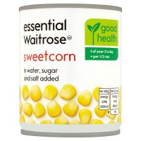 essential Waitrose canned sweetcorn