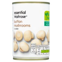 essential Waitrose canned button mushrooms