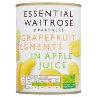 Essential Waitrose Grapefruit Segments (in fruit juice)
