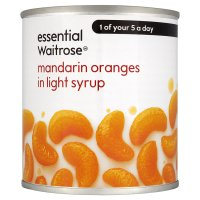 essential Waitrose Mandarin Oranges (in syrup)