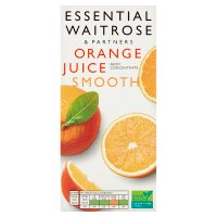 essential Waitrose pure orange smooth juice