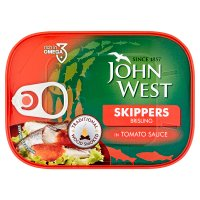 John West skippers in tomato sauce
