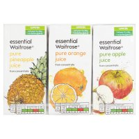 essential Waitrose pure juice variety, 6 pack
