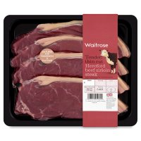 Waitrose Hereford beef thin cut sirloin steak
