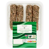 Waitrose 4 minted lamb shish kebabs