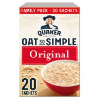 Quaker Oatso Simple original porridge cereal sachets