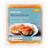 Waitrose Scottish smoked salmon slices, 8 slices
