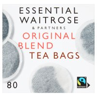 Essential Waitrose Original Blend Tea  80 Round Bags
