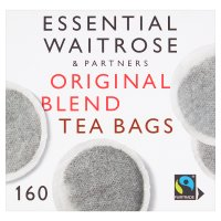 Essential Waitrose Original Blend Tea - 160 Round Bags