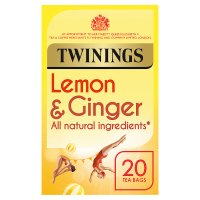 Twinings lemon & ginger 20 tea bags