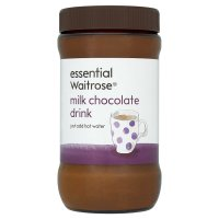 essential Waitrose milk chocolate drink