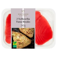 Waitrose line caught 2 prime yellowfin tuna steak