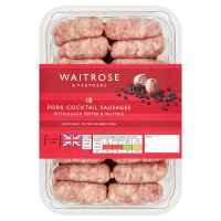 Waitrose 18 British gourmet pork cocktail sausages