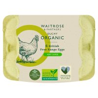 Waitrose Duchy Organic 6 very large British free range eggs