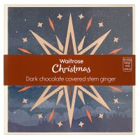 Waitrose dark chocolate covered stem ginger