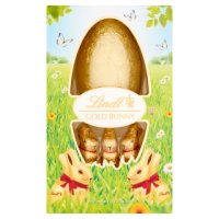 Lindt Gold Bunny with Lindt Milk Chocolate Egg 125g