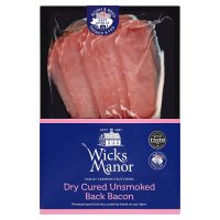 Wicks Manor dry-cured unsmoked back bacon