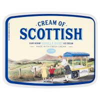 Cream of Scottish easy scoop vanilla dairy ice cream