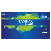 Tampax Compak Super Applicator Tampon 32PK