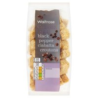 Waitrose cracked black pepper ciabatta croutons